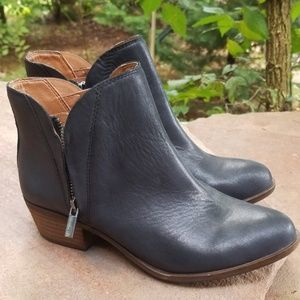 Womens lucky brand leather ankle boots 7m